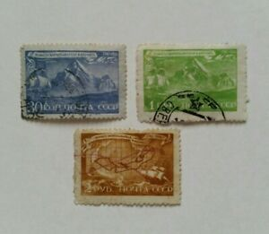 1943 The 200th Anniversary of the Death of Vitus Bering Set Stamps USSR Lot СССР
