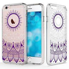 RANZ iPhone SE/ 5S/ 5 Mandala Sun Lace Hybrid Soft TPU Side & Clear Hard Case