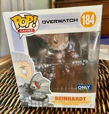 funko pop Overwatch REINHARDT UNMASKED Best Buy exclusive 6 inch rare MIB $7ship