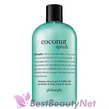 Philosophy Coconut Splash Shampoo, Shower Gel, & Bubble Bath 16oz / 480ml