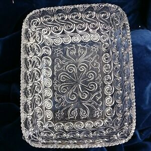 19th Century / Victorian Pressed Glass Oblong Serving Dish/ Bowl Stunning