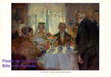 Die Hochzeitstafel XL Druck 1924 Rudolf Poeschmann * Plauen heiraten Hochzeit