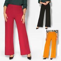 Pantalon Femme Grande Taille Ceinture Haute Pas Cher Large Fluide Mode Ample