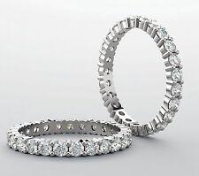 1.55 carat Platinum Diamond Eternity Band Wedding Ring Size 5, IDEAL