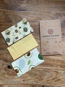 Beeswax Wraps Food Wrap 3pcs food wrap Eco Friendly Washable Reusable Bees Wax