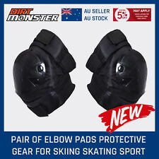 Safety Protective Gear - Elbow Protect Pad Guard - Black - Adult / Kids - Ski