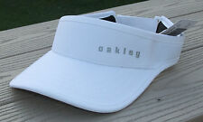 "NWT OAKLEY Hydrolix ""Fairway"" Womens Adjustable Golf Visor-OSFM  Ret@$22 WHITE"