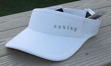 "NWT OAKLEY Hydrolix ""Fairway"" Womens Adjustable Golf Visor-OSFM  Ret@$22 WHITE"