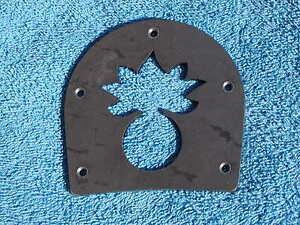 Brogan or Boot Heel Plate- Ordnance Bomb design