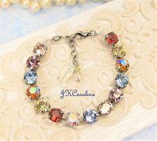 AB RAINBOW Tennis Bracelet  Cup Chain BRACELET w/ COLORFUL Swarovski Crystals