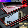 For Samsung Note 10 Plus S10 Magnetic Metal Anti-peep Tempered Glass Case Cover