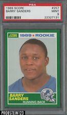1989 Score Football #257 Barry Sanders RC Rookie HOF PSA 9 MINT Lions