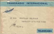 Argentina TRANSRADIO TELEGRAM Envelope & Telegram JUL/12/1950 Buenos Aires