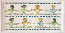 MAKING NEW FRIENDS GIRL SCOUTS BO-BUNNY PRESS 6 X 12 IN. SHEET STICKERS