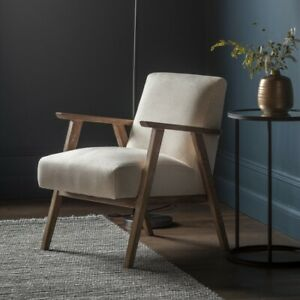 Frank Hudson Gallery Direct Neyland Armchair Natural Linen Fabric