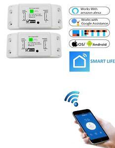 2 STÜCKE | Wifi WLAN Switch Smart Schalter für Alexa APP-Steuerung 2200W