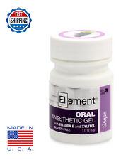 ELEMENT 20% Benzocaine Anesthetic Gel GRAPE Dermaroller Micro Needle