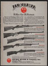 1979 RUGER 77 Bolt Action~Number One~44 Carbine~Mini-14~No 3 Rifle AD