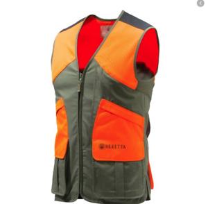 Mens Beretta Wild Trail Vest With Zip Blaze Orange Shooting Hunting  XXL 2XL