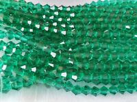 Joblot of 10 strings Dark Green 6mm bicone shape Crystal beads new wholesale