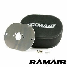 RAMAIR Carb Air Filters With Baseplate SU HS4, HIF4, HIF3B 1.5in 100mm Bolt On