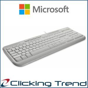 Keyboard Microsoft Wired 600 Keyboard USB 3 Year Warranty Windows Mac White New