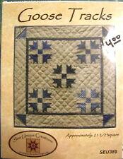 """Sew Unique Creations """"Goose Tracks"""" 21 1/2"""" Square Quilt Pattern"""