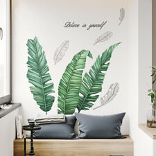 Large Tropical Leaves Wall Sticker Palm Leaf Art Vinyl Decal Living Room Office