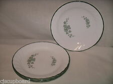 CORELLE Callaway Ivy White Green Lot of 5 Salad / Dessert Plates - EUC