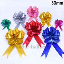 Large Pull Bows 50mm Ribbon Wedding Car Tables Venue Birthday Pew Ribbon Decor