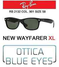 Occhiali da sole RAYBAN rb 2132 901 58 New Wayfarer XL Ray Ban Sunglasses Black