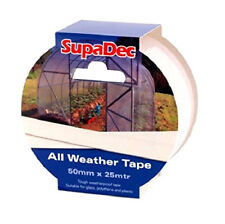All Weather Clear Repair Tape 50mm x 25M Weatherproof Glass, Polythene & Plastic