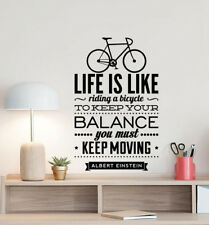 Albert Einstein Poster Wall Decal Bicycle Quote Vinyl Sticker Science Decor 879