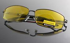 Polarized UV400 Sunglasses Night Vision Yellow lens Driving Goggles Glasses #1Ye