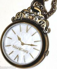 Authentic Women's BILLABONG Dawn Brass Tone Pendant Watch. NWOT, RRP $179.99.