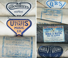 PIANO ROLLS VINTAGE 1920S, LOT OF 23, ARISTO, PARAMOUNT MUSIC,IDEAL, QRS   MORE