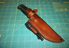 MORA Garberg Custom Leather Knife Sheath, RH Belt, Form Fit, Free Ferro Rod