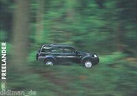 3024LR Land Rover Freelander Prospekt 2001 spanisch 20 Seiten brochure broschyr