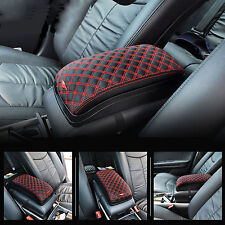 Car Vehicle Console Box Center Armrest Storage Pocket Universal Multi Case Red