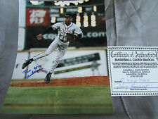 RARE !! FRANCISCO RODRIGUEZ SIGNED LAKE ELSINORE STORM PHOTO WITH COA  ( ANGELS)