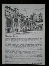 POSTCARD DURHAM DURHAM CASTLEL OCAL HISTORY CARDS