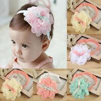 Baby Kids Girl Toddler Cute Lace Flower Hair Band Headband Headwear Accessories
