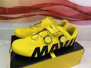 Mavic Cosmic Pro Ltd Carbon Cycling Shoes UK10 Yellow