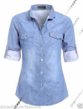 Normalgröße Damenblusen, - Tops & -Shirts aus Denim M