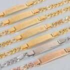 Personalized 18k Gold Plated Baby Name Bracelet Custom Any Name Bracelet
