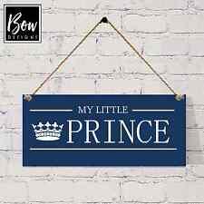 Shabby Chic Nuevo Bebé Prince Placa signo Regalo 003