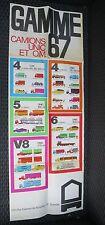 CAMIONS UNIC et OM affiche illustrée gamme 1967 SURESNES