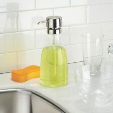 Hand Lotion/Soap  Dispenser InterDesign Bathroom Kitchen 31 oz,Clear/Brushed