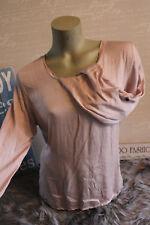 Made in Italy Shirt Jeans Tunika Bluse Gr. S M L rosa Schleife Rückenausschnitt