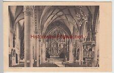 (97517) AK Leutkirch im Allgäu, kath. Kirche, Blick zum Altar, vor 1945